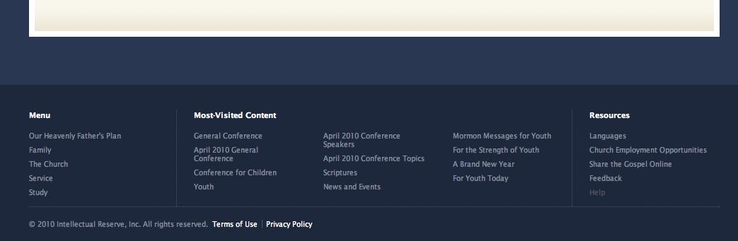 Exploring the New LDS Website » Latter-day Saint Blogs