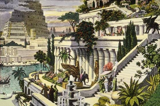 """Hanging Gardens of Babylon"". Licensed under Public domain via Wikimedia Commons - http://commons.wikimedia.org/wiki/File:Hanging_Gardens_of_Babylon.jpg#mediaviewer/File:Hanging_Gardens_of_Babylon.jpg"